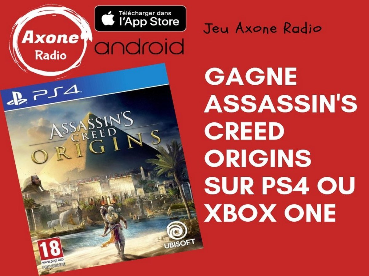 Assassin's Creed Origins à gagner